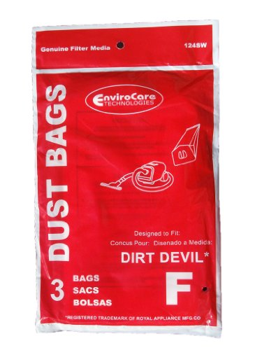 75 Royal Dirt Devil Canister Type F Allergy Vacuum Bags, Can Vac, Power Pak...