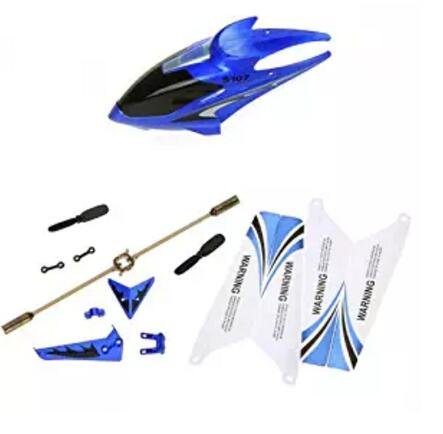 RONSHIN Syma Full Replacement Parts Set for Syma S107 Rc Helicopter Blue Set