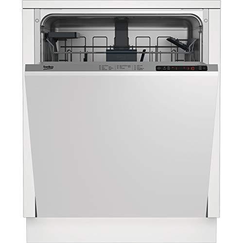 Beko DIN26410 - Lavavajillas estándar totalmente integrado, panel de control plateado con kit de fijación para puerta fija, clasificación A+