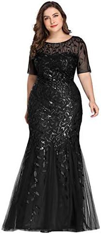 Women s Long Gowns Prom Evening Bridesmaid Dress Mermaid Dress Plus Size Black US18 product image