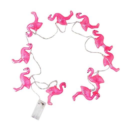 ROSENICE LED Lichterkette Batteriebetrieben Flamingo Hochzeit Weihnachten Garten Dekoration 1.5m