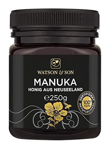Watson & Son Manuka Honig MGO 100+ 250g, zertifizierte Premium Qualität aus Neuseeland