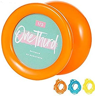 MAGICYOYO Looping Yoyo Responsive Yoyo D2 ONE Third Purple Ball Bearing Yoyo Axle, Premium Plastic Yoyo, Super Durable+ Yoyo Glove + Yoyo Bag + 3 Yoyo Strings (Orange)