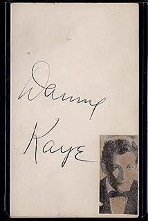 Danny Kaye Signed Index Card Vintage Autograph Mary Jane Walsh Signed Back