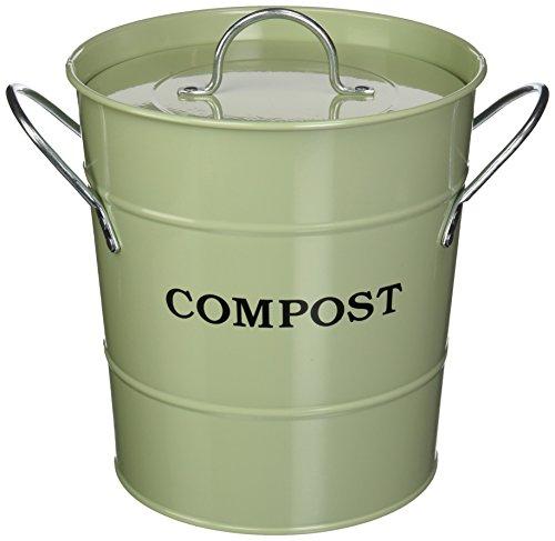Exaco CPBG 011-Gallon 2-in-1interior Compost cubo, color verde