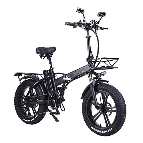 SAWOO Bicicleta Eléctrica 750w Fat Bike 20 Pulgadas Fat Bike Bicicleta Electrica Plegable 20ah Batería De Litio Bicicleta Electrica Montaña Nieve Hombres Mujeres