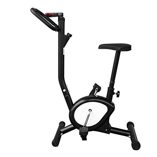 OUTAD Fitness Bicicletta Cyclette fitnessbike Bicicletta Trainer con Display LCD, comodo spugna cuscino e braccioli, regolabile in altezza (nero)
