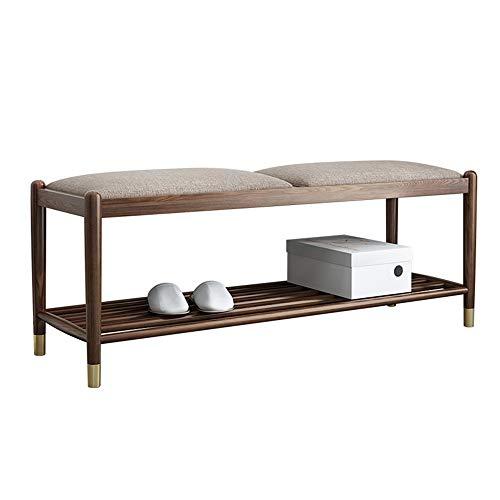 Commode van hout voor schoenen, opbergbank voor rek, moderne meubels met zacht zitkussen, ideaal voor de voordeur, hal, badkamer, woonkamer en hal, bedbank