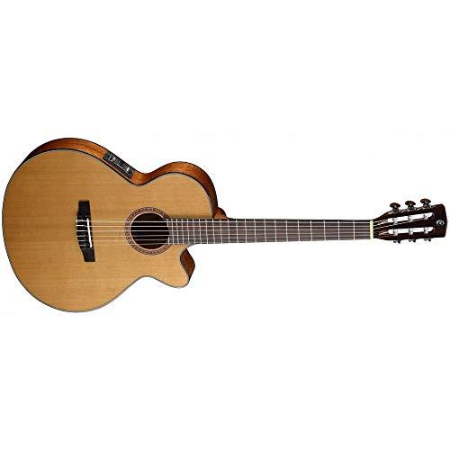Guitares électro acoustiques CORT CEC-1 NATURAL OPEN PORES Folk électro cordes nylon