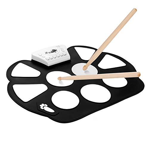 DigitalLife Elektronisches Schlagzeug, Drum Set, Roll Up Schlagzeug Drum Kit - 9 Pads E Drum kit mit Drumsticks - für Kinder Geburtstag Gift
