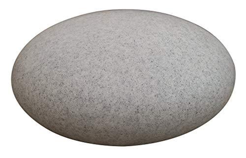 HEITRONIC Leuchtstein MUNDO Kieselstein beleuchtet 55cm für E27 LED Leuchtmittel granitoptik granit