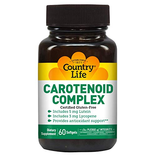 Country Life Carotenoid Complex - 60 Softgels - Includes Vegetable Medley - Antioxidant Support - Lutein and Lycopene