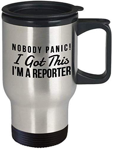 Grappig Reporter Gift Cadeau voor Reporter Humor Travel Mok Reporter Reporter Reporter Travel Mok Humor Meme Humor Reporter