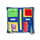 2-Sided Fidget Sensory Blanket for Adults with Dementia 19.5x19.5'. Activities Pad to Aid Alzheimer's, Autism, Asperger's Improve Memory. Detachable Gadgets, Laces, Zipper for Seniors & Children