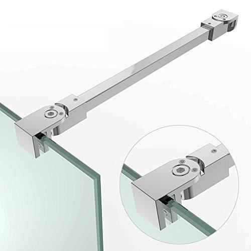 Stabilisator Haltestange HS21-275 edel verchromt | Winkel flexibel einstellbar| Geeignet für die Glasstärken 6 mm 8 mm und 10 mm