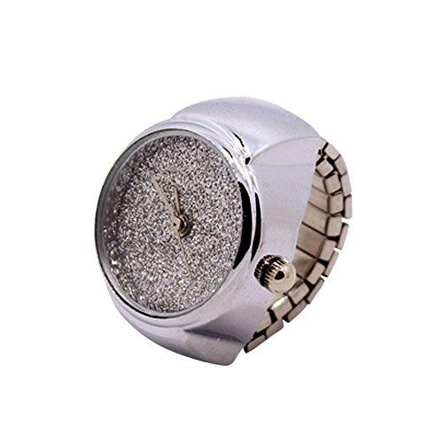 カップル 指輪腕時計 Hodarey メンズ レデイーズ クォーツ 指針形 ステンレスバンド アナログ表示 指のアクセサリ ファッション おしゃれ 男女兼用 恋人 友人 リング 時計 #66