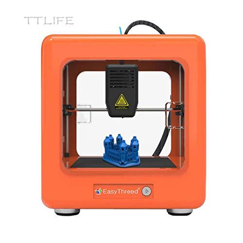 TTLIFE Mini imprimante 3D Nano imprimante entièrement assemblée Une Impression clé pour l'éducation Domestique et Bricolage Enfants Cadeaux de développement intellectuel (Orange)
