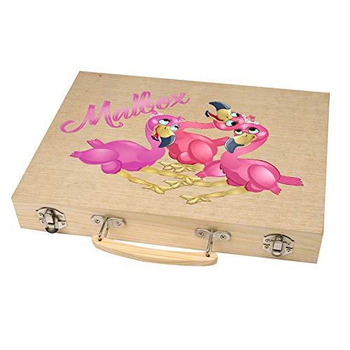 Malkoffer 'PAINT BOX 66' mit 11 Utensilien - 66-teiliges Malset für Schule und Co.: Der kompakte Malkasten im praktischen Holzkoffer!, Motiv:Motiv 08