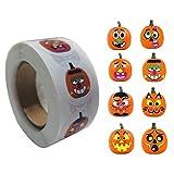 liuchenmaoyi 500 unids/Rollo de Calabaza de Halloween decoración...
