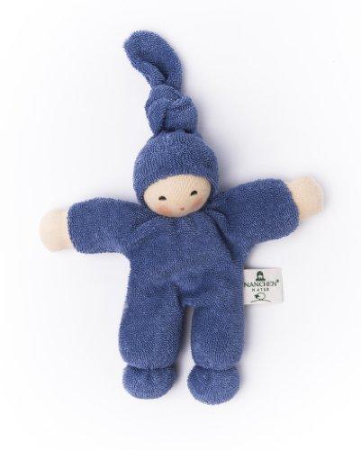Pimpel Frottee blau 20 cm von Nanchen Natur Puppe