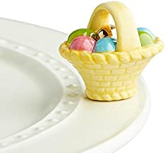 Nora Fleming Hand-Painted Mini: A Tisket, A Tasket (Basket with Eggs) A214
