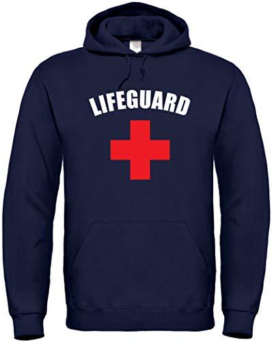 Textildruck Universum Hoodie Lifeguard S bis 5XL (Dunkelblau, L)