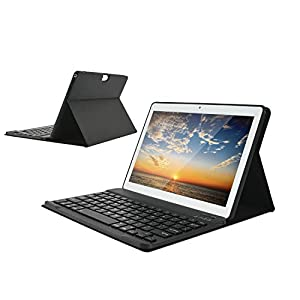 HOTREALS, Tableta Android de 10.1 Pulgadas, Tableta Android OS de Cuatro núcleos, ROM de 4 GB de RAM y 64 GB, Red WiFi 3G, Bluetooth, GPS, Tipo C, batería de 8000 mAh (Blanco)