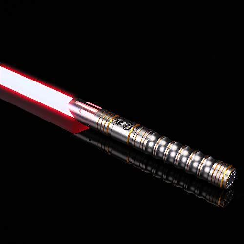 Ciel Tan Lightsaber RGB 12 Colors Light Saber of Metal Hilt Light Saber with 6 Realistic FX Sound Fonts Flash on Clash