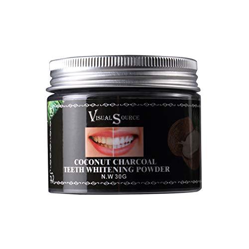 Lorsoul Cocco Biologico Teeth Whitening Carbone Attivo in Polvere, Naturale tartaro smacchiatore - 20g / 30g