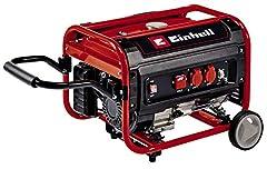 Single-light power generator (benzine) TC-PG 35/E5 (max. 3.100 W, emissiearme 4-takt motor, 2x 230 V-aansluitingen, 15 l tank, AVR-functie, overbelastingsschakelaar, bescherming tegen olietekort)*
