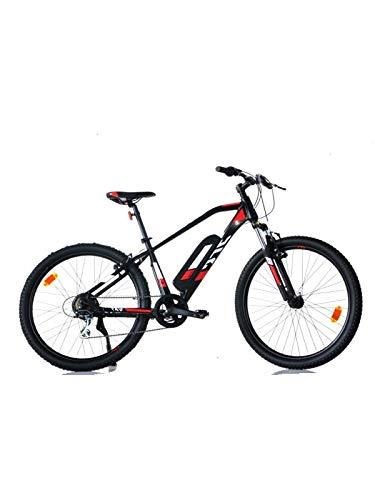 AURELIA Bicicletta ELETTRICA E-Bike Uomo 27.5' 1027 ME-0406 Nero/Rosso
