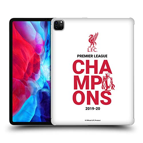 Official Liverpool Football Club White Typography 2020 Champions Hard Back Case Compatible for Apple iPad Pro 12.9 (2020)