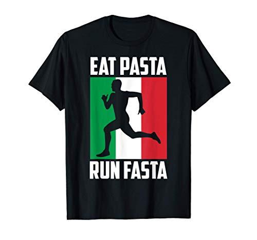 Nudeln Italien Flagge | Eat Pasta Run Fasta | Geschenk T-Shirt