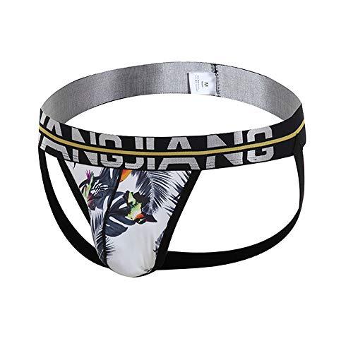 YXX Jockstrap Deportivo Transpirable para Hombres Sin Costuras, Bragas De Cintura Baja, Sexy, Transparentes, Bikini 2 pcs,Negro,XL