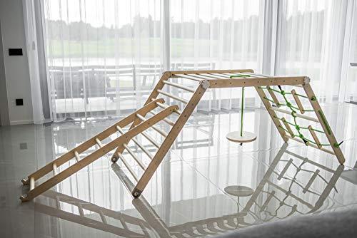 Pickler transformable Kids triángulo dreieck Playhouse ajustable Montessori escalera juguete escalador niño pikler gimnasio diapositiva actividad plegable (1. pirata)