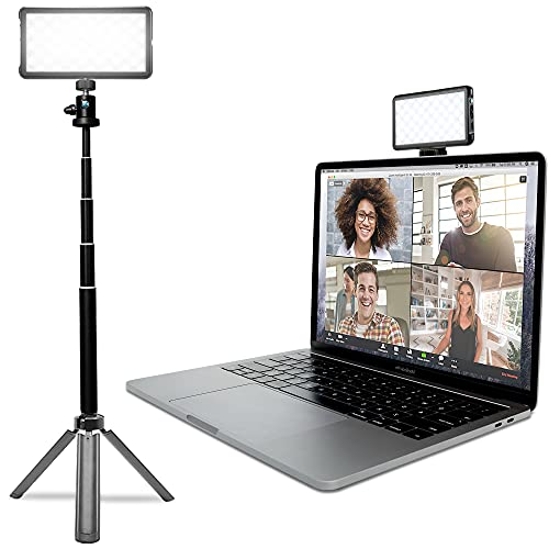 Lume Cube Broadcast Lighting Kit | Live Streaming, Video Conferencing, Remote Working, Zoom Webcam | Lighting Accessory for Laptop, Adjustable Brightness and Color Temperature, Computer Mount Included