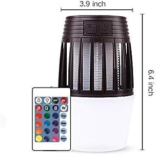 Yangyang 2 En 1 Lámpara Antimosquitos Luz Nocturna Portátil Bug Zapper, Batería de Litio Recargable Incorporada 2000 Mah Insecticida Gris Claro 100 * 100 * 164Mm