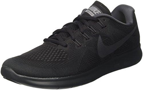 Nike Women's Free Rn 2017 Running Shoes , Black/Anthracite-Dark Grey-Cool Grey,3 UK(36 EU)