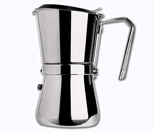 Giannini Caffettiera Espresso con Chiusura a Scatto, Acciaio Inossidabile, Argento