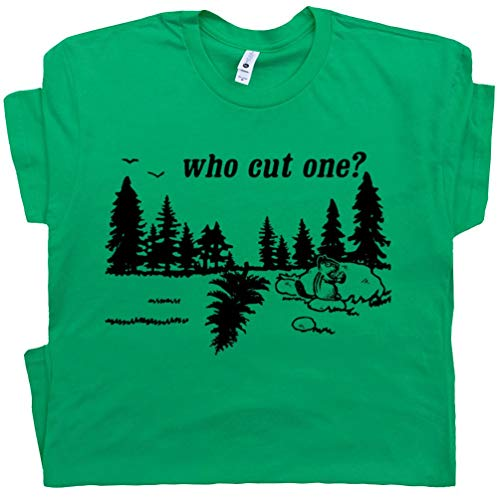 XXL - Who Cut One Fart T Shirt Loading I Just Farted Funny Pun Bathroom Witty Inappropriate Humor Saying Tee White