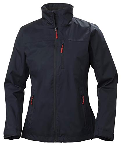 Helly Hansen W Crew Midlayer Jacket Chaqueta Impermeable, Mujer, Navy, M