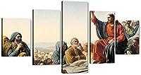 ウォールキャンバスイエスレクチャー山上の説教カールハインリッヒブロッホジクレーキャンバスプリントアートワーク有名な絵画