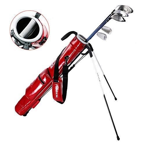 Helix Golftasche, leicht, leicht zu transportieren, Golftasche, Sonntag-Reisetasche mit Schulter, Übungs-Ranger, Sonntag-Tasche für Damen und Herren (rot)