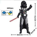 Zenghh 35cm Darth Vader Anakin Skywalker y el Imperial Stormtrooper Modelo Micro Blocks Set, Guerrero Lucha Acción muñeca figura, 3D juguetes rompecabezas educativo de DIY, regalo for adultos y niños