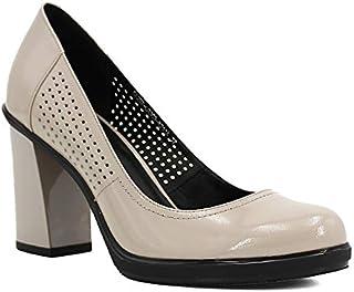 precioso TXHLKD Elegantes Bombas de Cuero Genuino Mujer Mujer Mujer Tacones Altos y Gruesos Bombas Sólido Punta rojoonda Office Lady Classic zapatos D01 6.5 Rojo Vino  cómodamente