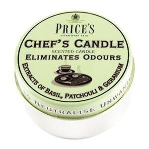 Prices Chef Bougie odeur éliminant Bougie parfumée dans une boîte métallique 3.5 x 6.5 cm