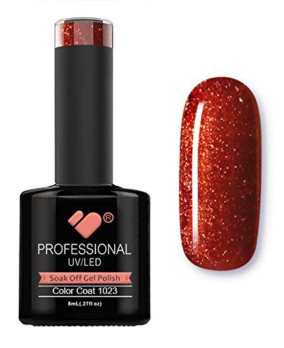1023 VB Ligne Rouge Orange Doré métallique de couleur Super Vernis UV/Led Soak Off Vernis à ongles gel