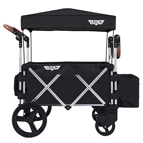 Keenz Stroller Wagon – 7S Pull/Push Wagon Stroller – Safe and Secure Baby & Big Kids Wagon with Canopy & Other Accessories Included – Versatile Wagon Stroller Ideal for Special Needs, Black
