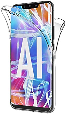 AICEK Coque Huawei Mate 20 Lite, 360°Full Body Transparente Silicone Coque pour Huawei Mate 20 Lite Housse Silicone Etui Case (6,3 Pouces)