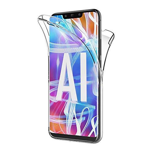 AICEK Cover Huawei Mate 20 Lite, 360°Full Body Cover Huawei Mate 20 Lite Silicone Case Molle di TPU Trasparente Sottile Custodia per Huawei Mate 20 Lite (6.3 Pollici)